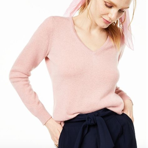Charter Club Sweaters - Charter Club 100% Cashmere V Neck Sweater Pink